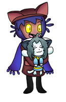 Niko and Temmie by CyanDraggon