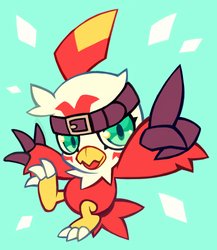 hawkmon by extyrannomon
