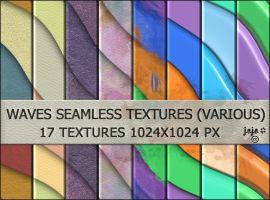 Waves seamless textures (various) by jojo-ojoj