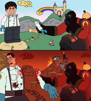 The Pyro loves Lego! by Unrellius