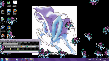 Suicune shimeji +DOWNLOAD+ by Niicchan
