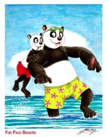 Paco and Po on the seaside! (Gift-Art) by SAGADreams