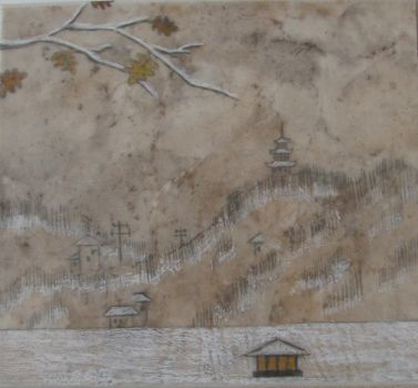 Winter landscape drawing by Radan22
