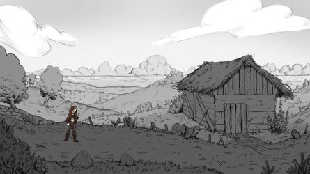 Game Background Sketch by AdrianDIS