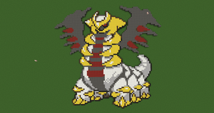 Pokemon Pixel Art: Giratina by Nonamewayward