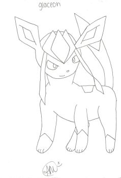 Glaceon No Color by SoulEatingPuppet