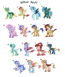 leftover mlp adopts: (OPEN) by SapphireScarletta