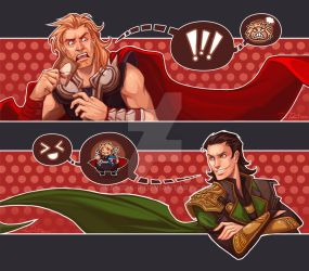 Thor Loki Crack Art by ramida-r