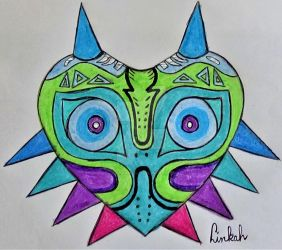 Complementary Color Majora's Mask by Dalinkahzel