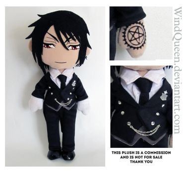 Sebastian Plush commission by WindQueen