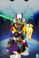 Megaman X: Zero and Bass Digital Art by RedCaliburn