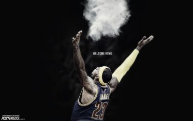 LeBron James Cavs Wallpaper by IshaanMishra