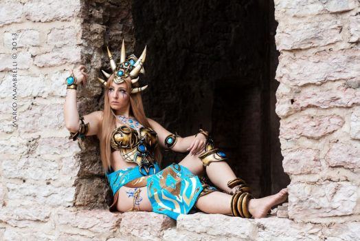 Bronze Dragon Queen_ time for rest by CalipsoCosplay
