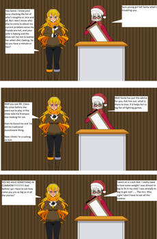 Yang talks to Santa by imyouknowwho