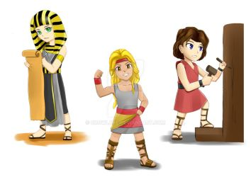 Chibi Bible Characters for children's book samples by Crowlake