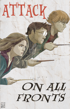 Attack on All Fronts propaganda poster by BrotherToastyCakes