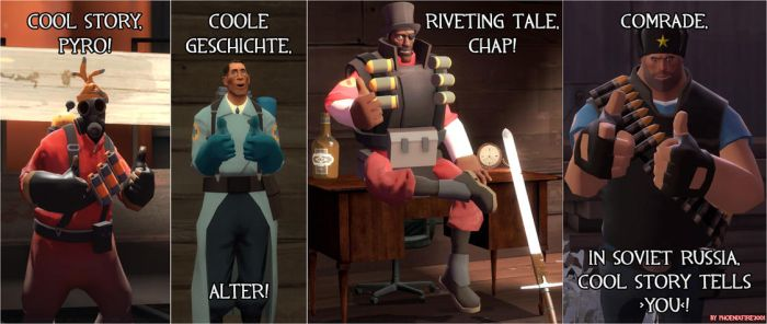 TF2: Cool story, bro. by VermilionEclipse