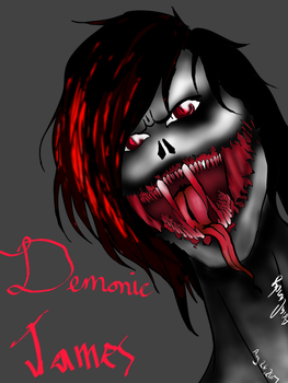 RE draw of James demon form by ariacandy2