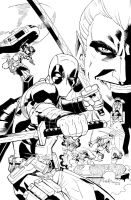 Deadpool: Dracula's Gauntlet #1 b/w by ReillyBrown