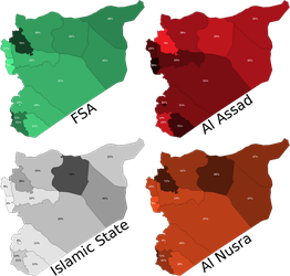 Public Support for Factions by Province: Syria by Thumboy21