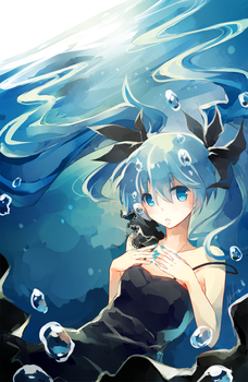 Deep Sea Miku by h-yde
