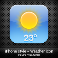 iPhone style - Weather icon by YaroManzarek