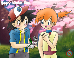 CE: White Day Ash x Misty by shadowhatesomochao