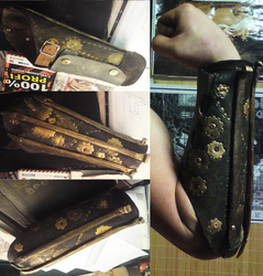 Steampunk bracer by JoeWere