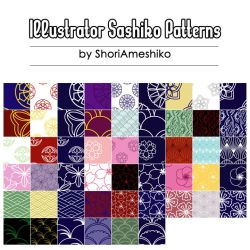 Illustrator Sashiko Patterns by SewDesuNe