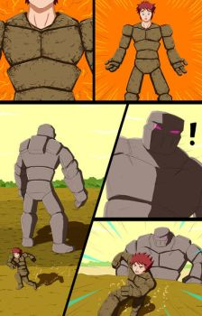 Mike into Golem TF Comic page 18 by whiteguardian