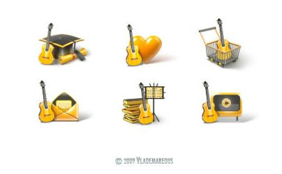 Guitar icons by Vlademareous