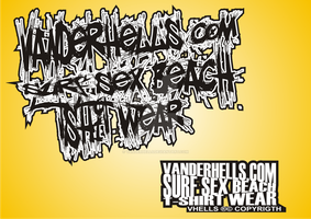 sex surf beach tshirts by Vanderhells