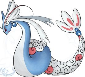 Milotic+Dragonair fusion by Taez