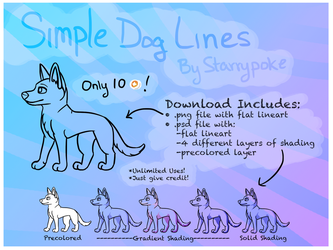 Simple Dog Lineart- Only 10 Points! by Starrypoke