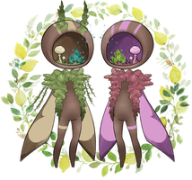 [CLOSED] Forest Moth Sprite Adoptable by CloverWing