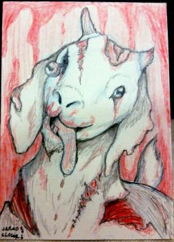 Zombie Goat by AokiBengal