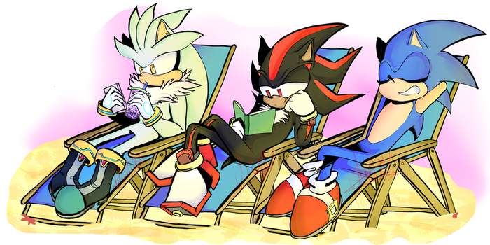 Sonic And The Beach by xXDragonfierXx
