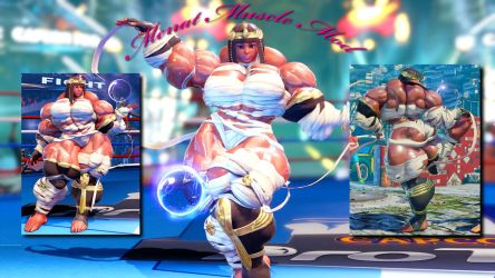 Menat Muscle Mod Commission by Ripped-Pixels