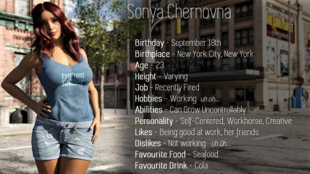 Information about Sonya by Dinner-Kun