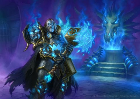 Hearthstone - Death Knight Uther by namesjames
