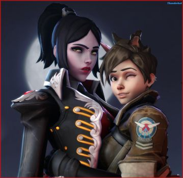 WidowTracer - Huntress and the Wolf by GeneralThunderbat
