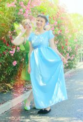 Tink doesn't like Wendy (Cosplays) by GlowingSnow