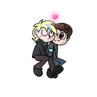 Barkhat and Connor. Requested by InvaderOfFandoms by RainbowRatArt