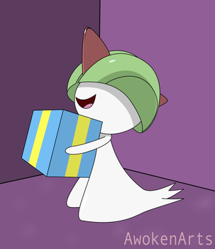 Merry Christmas from Ralts by AwokenArts