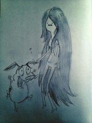 Marceline and Courage by Grumpymuffins