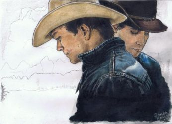 Brokeback Mountain WIP by namsikka