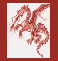 The Red Dragon by Charlene-Art