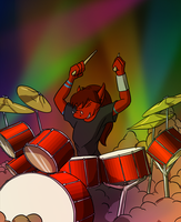 Anthros Drumming Commision by Morgoth883
