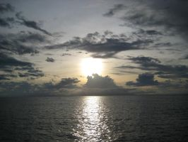Stock : out at sea sun set 1 by Deaths-stock