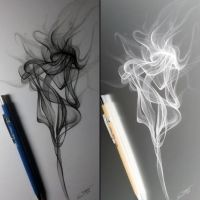 Smoke Drawing Study by LethalChris